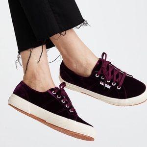 SUPERGA 2750 Purple Velvet Sneakers Size 38 7.5